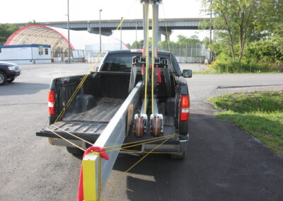6600R eme aluminum Gantry Crane compact enough to transport in the back of an average pickup truck